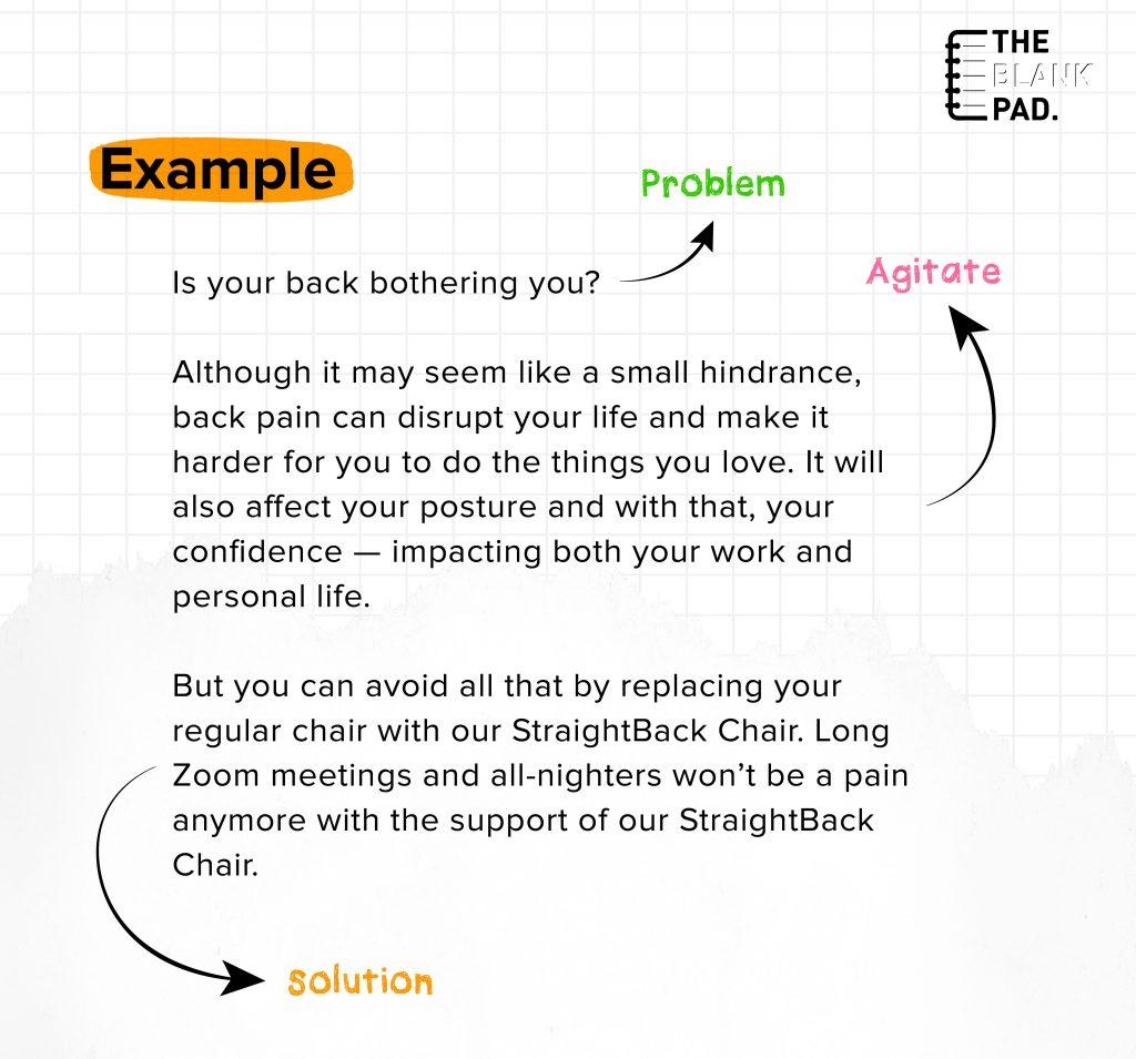PAS Copywriting Formula Example